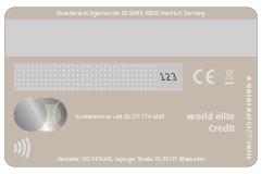 Mastercard-PVC-Karte Rückseite in greige