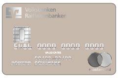 Mastercard-PVC-Karte Vorderseite in greige