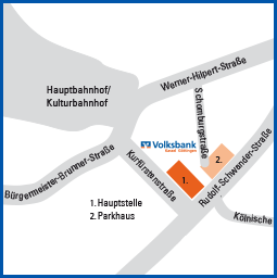 Lageplan Parkhaus